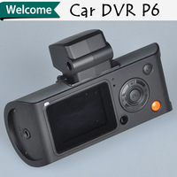 Rearview mirror dual lens Car DVR Dual Camera Support GPS Logger G-sensor with 110degree front Lens Waterproof rear view lens