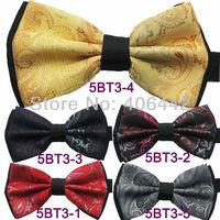 Yibei Coachella Ties Jacquard Woven double-deck Paisley Bow Tie Adjustable Adults Bowties Tuxedo Bow-tie Unisex butterflys
