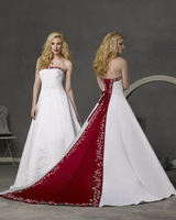 Wedding dress hot-selling embroidered wedding dress train wedding dress customize hs81