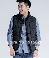 Slim / Collar / imitation silk / men's casual fashion down vest