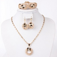 2014 new arrival Dubai 18K Gold Plated Fashion Wedding Bridal accessories african gold plating jewelry set