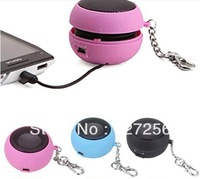 Hamburger Style USB Rechargeable Speaker for MP3/MP4/PC/Cell Phone mini USB Rechargeable Portable Speaker - Pink (3.5mm/DC 5V)