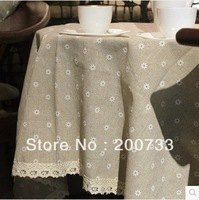 Free shipping 100cm*150cm cotton-hemp table clothes gremial table cloth dining table cloth