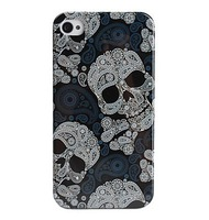 Free Shipping Cool Skull Style Protective Case for iPhone 4 and 4S