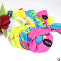 Lots of 20PCS Colorful Twist Tie Wire Headband Sexy Kiss Hairband Hair Bow  Double Folded (40cm long, 7cm wide)