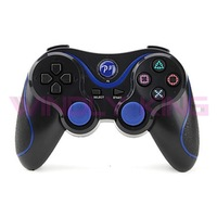 Black With Blue Wireless Controller for PS3