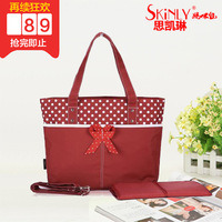 Skinly multifunctional nappy bag one shoulder handbag cross-body super large capacity supplies bag