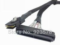[DHL FREE SHIPPING!] WHOLESALE 50pcs/lot SFF 8484 SAS 32pin 4i to SFF 8087 Mini SAS 4i 36pin Cable Server RAID Cable 80cm