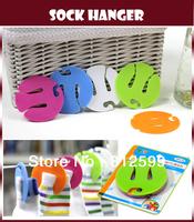 Free Shipping! Sock Hanger Hanging Dryer Clip Clamp Hook Rack Organizer Laundry Machine Safe Multifunction Pair Socks 5pcs/pack