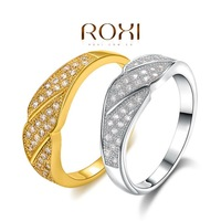 New Arrival Fashion 18K Yellow / White Gold Plated Ring,set with Zircon Crystal,Wedding Ring,ROXI 101036436a