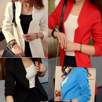 Free ship 2013 women's medium-long casual slim small suit jacket shoulder pads blazer 935