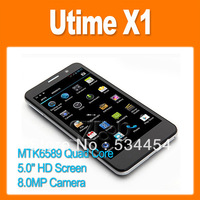 Utime X1 MTK6589 Quad Core 1.2GHz 5.0 Inch HD Screen Android 4.2 Smart Phone 8.0MP Camera 3G GPS Bluetooth Black (0301134)