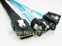 WHOLESALE 10pcs/lot High Quality 4 SATA 7pin RAID Cord to Mini SAS 4i SFF 8087 36Pin Back Plane Cable 1m