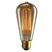 1910 Antique Vintage Edison light Bulb 40W 220V/110v radiolight ST64 Squirrel cage Tungsten home decoration, Free Shipping