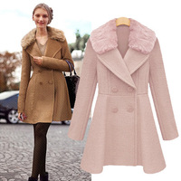 good sale female Wool collar wool coat 9667  free shipping