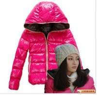 2013 2012 big design glossy female short down coat  free shipping