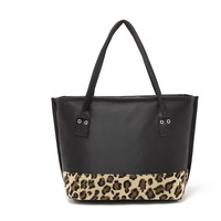 female bags fashion trend leopard print bag cowhide genuine leather shoulder purses and handbags