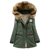 2013 overcoat Army Green frock outerwear female autumn and winter outerwear fur collar thickening wadded jacket