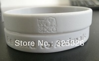 Free Shipping custom logo engrave/debossed white solid silicone wristband bangles with design deboss personlized rubber bracelet
