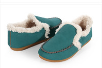 2013 New Fashion women's solid thicken warm lambwool cotton-padded shoes indoor shoes