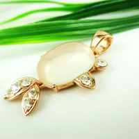 [Attached Appraisal Certificate] Fashion Jewelry Rose Gold AAA Grade CZ Diamond Natural Ice Kinds Rose Quartz Pendant