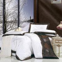 Home textile satin four piece set white fashion silk bedding