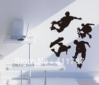 Free Shipping Home Decor Cool skateboard boy Mural Home Design Kids Wall Stickers Wall Decals