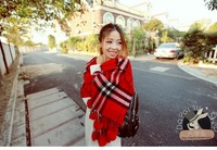Wool Star Style thick plaid scarf,2013 autumn and winter scarves,women knitted shawls,fall 2013 pashmina chirstmas gift