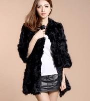 Free shipping! 2014 winter full leather 100% real natural black berber fleece fur coat medium-long sheep picao O-neck WTP9