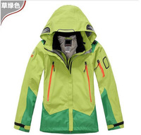 2014 Brand High Quality 2in1 Double Layer Fashion Trends Women's Sports Coat Winter Outdoor Waterproof Climbing Clothes Jacket