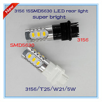 Free shipping 2pcs/lot super bright 3156 T20 W21W 15SMD5630 led rear turn signal light auto lamp accessories headlamp DRL parts