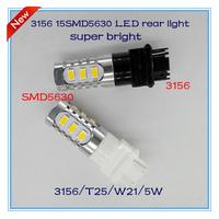 Free shipping 2pcs/lot super bright 3156 T20 W21W 15SMD5630 led rear turn signal light auto lamp accessories headlamp DRL parts