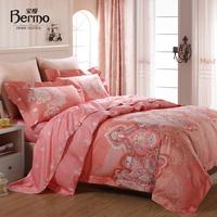Home textile bedding 100% cotton stripe print activated slanting four piece set