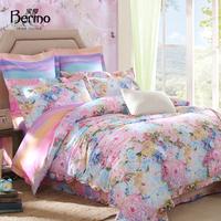100% cotton bedding home textile cotton 40s-80s 100% print duvet cover bedrug four piece set florid