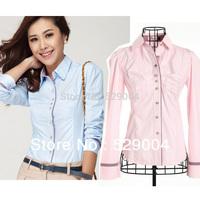 free shipping women's long shirt,cotten,fashion style lade's plaid polo shirt ,women clothes 2013