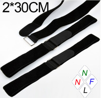 2*30CM Reusable Iron buckle Velcro Bundled Straps Cable Ties with Buckle NYLON cable management Magic Tape Fastener Belting