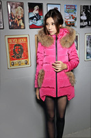 2013 New Winter detachable raccoon Fur medium-long Down coat Female