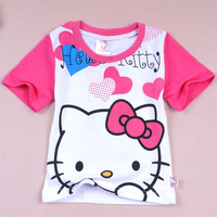 Hello Kitty  Tong Tong summer explosion models cotton short-sleeved T-shirt T-shirt foreign trade children's clothing girls