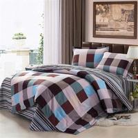 100% cotton rustic four piece bedding set 1.8 meters double bed sheets 250 duvet cover 220 240