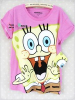 Foreign trade of the original single cotton cartoon SpongeBob comfortable casual women's t-shirt short sleeve