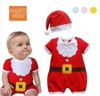 Infant christmas romper short-sleeve child clothing bodysuit