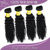 Malaysian Virgin Hair Grade 5A Kinky Curly Human Hair Extensions 12''-28'' Mixed Length 4pcs/lot DHL Fast Free Shipping