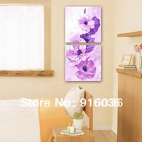 2 Panels Free shipping Hot selling Combination Picture Print Wall Hanging Modern Decorative Flower Paint Painting Art Canvas 677