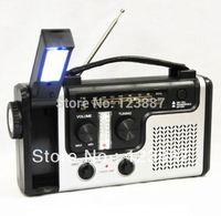 Emergency Solar Dynamo Radio LED Lights Charger Crank