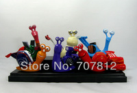 New Arrival 6x Turbo Racing League Action Figures 7CM PVC Cartoon Collections Toys Free Shipping