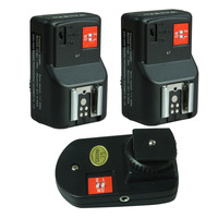 WanSen New PT-04 GY 4 Channels Wireless Radio Flash Trigger with 2 Receivers for Canon Nikon Pentax Olympus