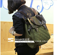 Free Shippig!New 2013 Green Color Unique Desiger Backpack Sport Bag Canvas School  Bags For Women