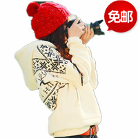 2013 autumn onta pullover outerwear female lovers plus size clothing plus velvet thickening sweatshirt