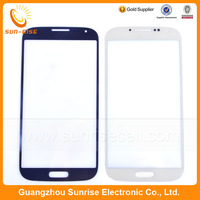 5pcs/lot Replacement For Samsung Galaxy S4 i9500 Outer Touch Screen Glass Lens White/Blue Color Free Shipping
