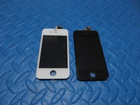 DHL shpping for Black or white  Glass Touch Screen Digitizer & LCD Assembly Replacement For iPhone 4 4g